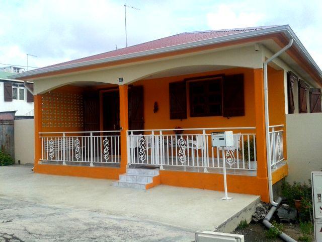 Les maisons typiques de Port Louis, en Guadeloupe