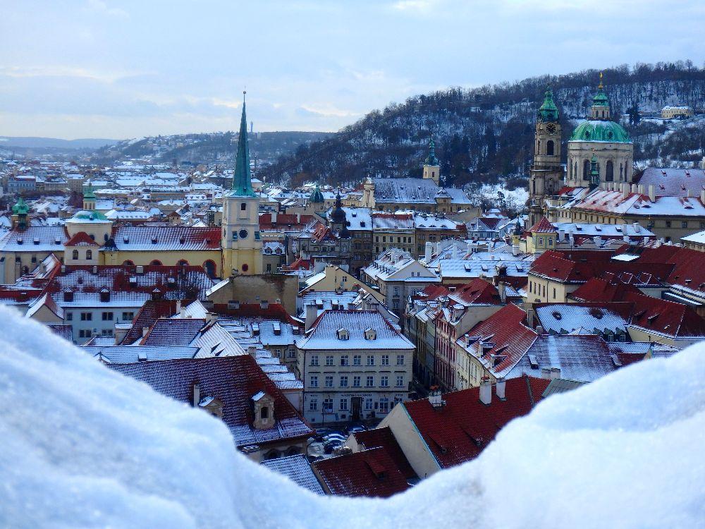 LA Vue depuis le Chateau de Prague