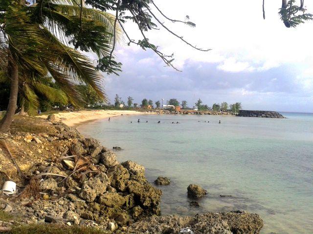 La plage du Souffleur, Grande Terre en Guadeloupe