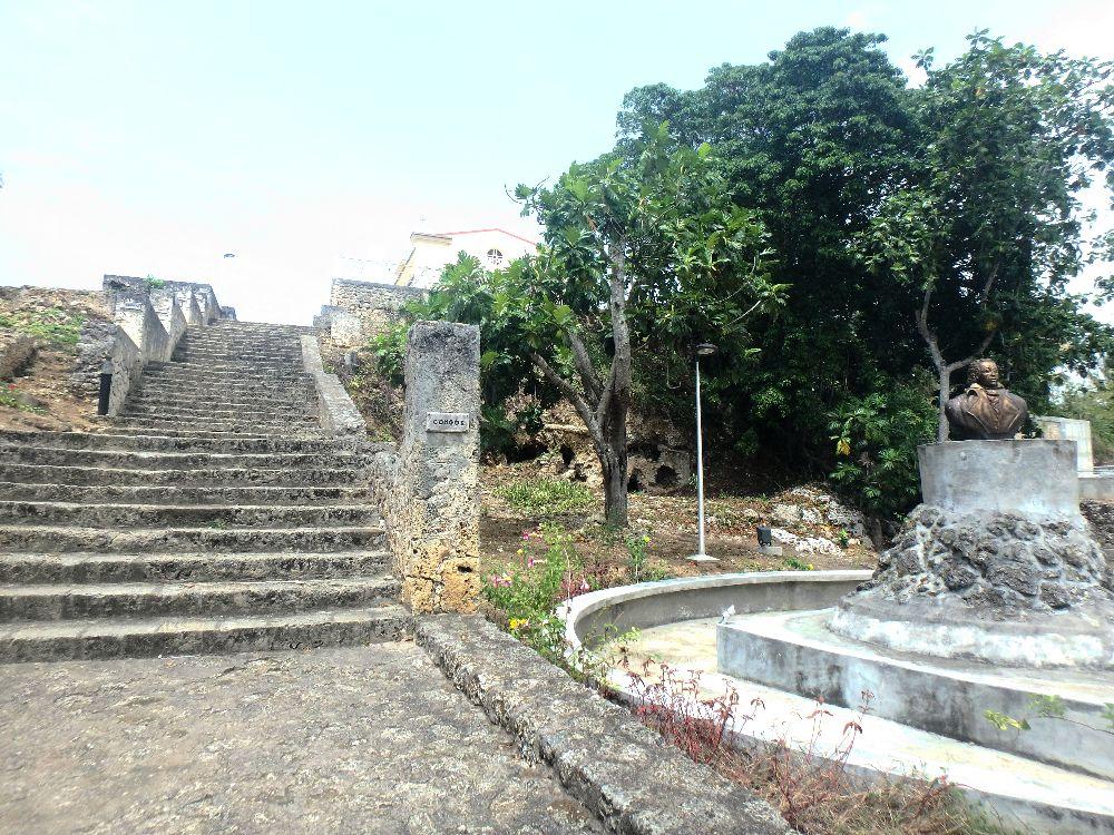 L'escalier de Petit Canal enGuadeloupe, construit par les esclaves