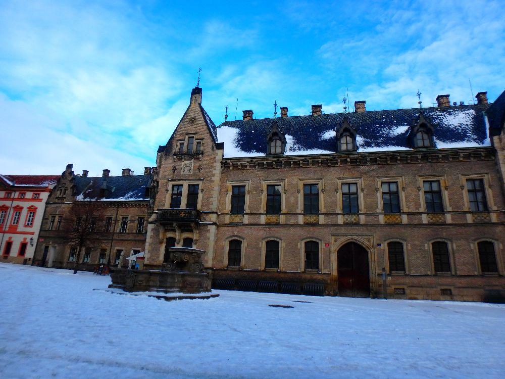 L'ancien palais royal au Chateau de Prague