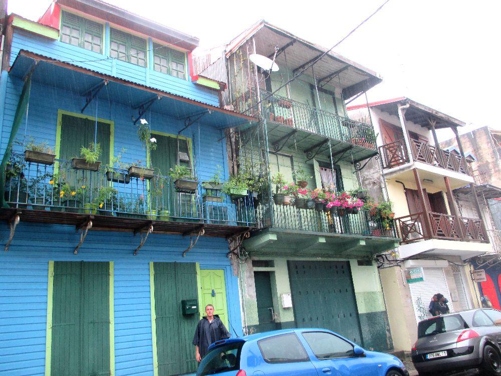 Les maisons colorées de Pointe a Pitre