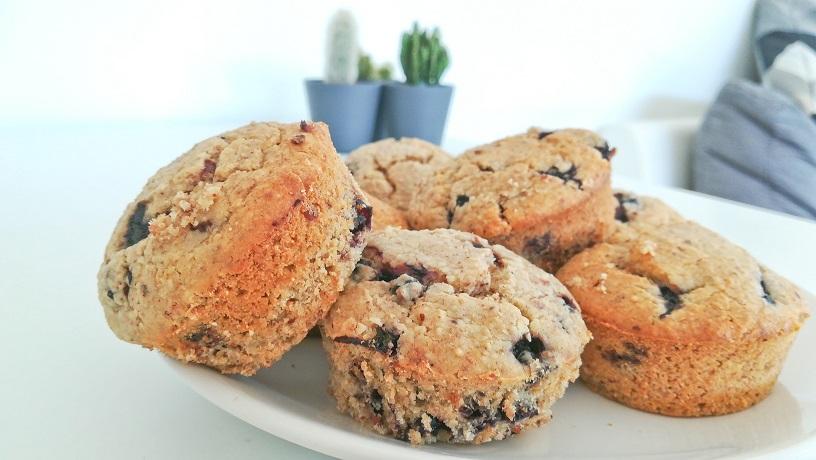 Muffins à la myrtille vegan