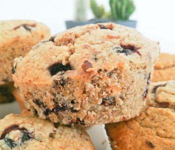 Muffins moelleux à la myrtille (vegans)