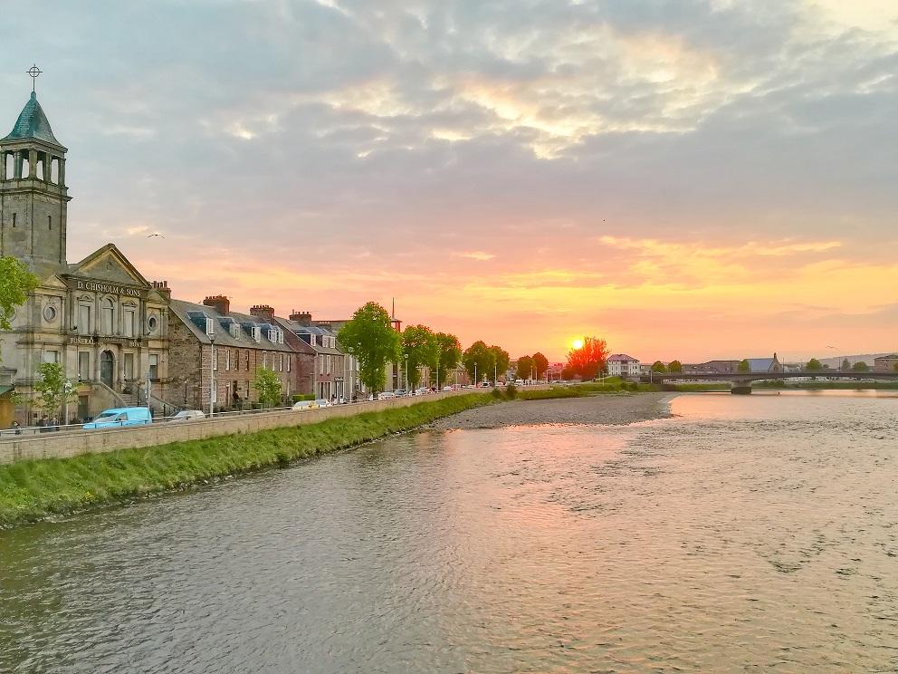 Coucher de soleil à Inverness