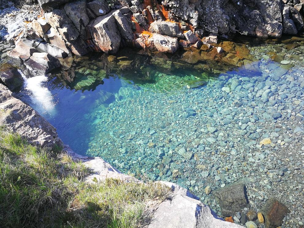 Les Fairy pools ou piscine des fées sur l'Ile de Skye