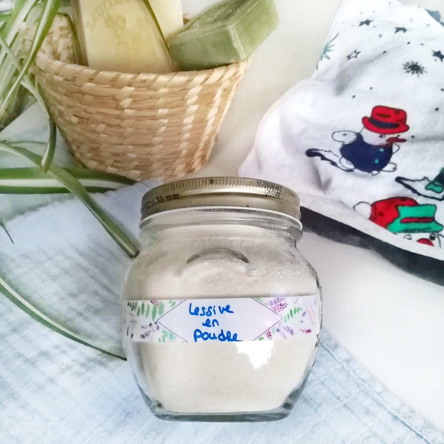 Lessive maison au savon de Marseille en poudre